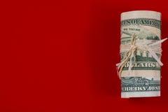 Dollari americani di rotolo dei contanti Immagine Stock Libera da Diritti