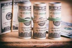 Dollari americani di valuta fotografia stock libera da diritti