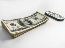 Dollari americani e calcolatore americani Immagini Stock Libere da Diritti