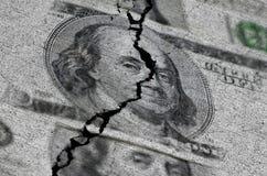 Dollari americani lacerati o strappati Immagine Stock Libera da Diritti