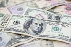 Dollari americani misti, molto fondo dei soldi Finanza, affare Fotografie Stock Libere da Diritti