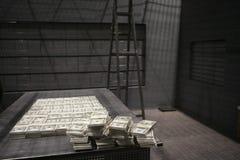 Dollari americani nello stoccaggio dei soldi fotografie stock libere da diritti