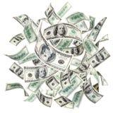 Dollari americani volanti Immagini Stock Libere da Diritti