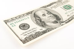 100 dollari Bill Abstract Fotografie Stock
