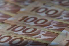 Dollari canadesi fotografia stock
