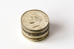 Dollari canadesi d'argento Fotografia Stock