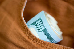 Dollari in casella Fotografia Stock