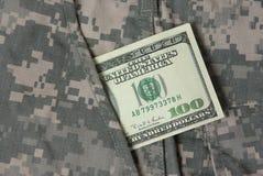 Dollari in casella uniforme Immagini Stock