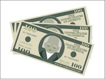 Dollari dei soldi dei contanti di dollaro americano dei soldi verdi illustrazione vettoriale