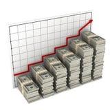 Dollari del grafico Illustrazione di Stock