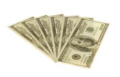 Dollari del ventilatore Fotografia Stock Libera da Diritti