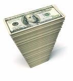 Dollari della pila Fotografia Stock Libera da Diritti
