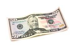 50 dollari di banconota Fotografia Stock Libera da Diritti
