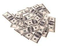 100 dollari di banconote i Fotografie Stock Libere da Diritti