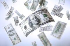 Dollari di caduta Immagine Stock