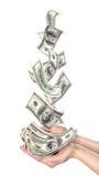 Dollari di caduta Immagini Stock