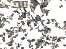 Dollari di caduta Fotografie Stock