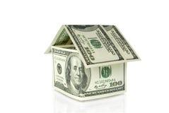 Dollari di casa fotografia stock libera da diritti