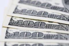 Dollari di concetto del primo piano Dollari americani di denaro contante Fotografie Stock Libere da Diritti