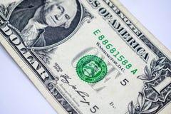 Dollari di concetto del primo piano Dollari americani di denaro contante Un dollaro Fotografia Stock Libera da Diritti