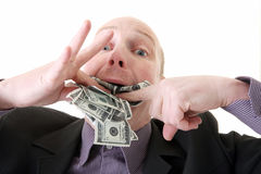 Dollari di consumo di avarizia di ingordigia immagini stock libere da diritti