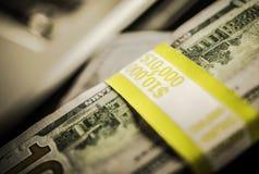 Dollari di diecimila Immagine Stock