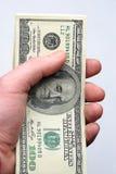 100 dollari di fattura Fotografia Stock