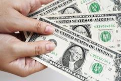 Dollari di fattura a disposizione Immagini Stock