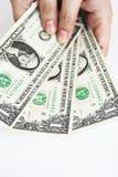 Dollari di fattura a disposizione Fotografia Stock