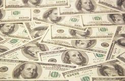 Dollari di fondo Fotografie Stock Libere da Diritti