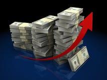 Dollari di grafico Immagine Stock