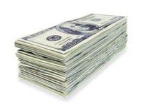 Dollari di pila Fotografie Stock