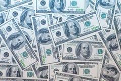 Dollari di priorità bassa Fotografie Stock Libere da Diritti