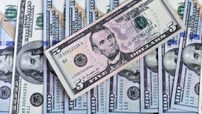 Dollari di priorità bassa Fotografia Stock