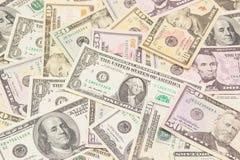 Dollari di priorità bassa. Struttura di alta risoluzione. Fotografia Stock