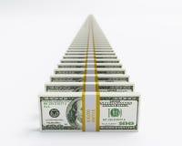 Dollari di schiera Fotografie Stock
