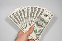 Dollari di Stati Uniti dell'americano 100 Fotografia Stock