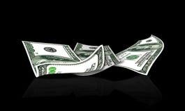 Dollari di U.S.A. sul nero Fotografia Stock Libera da Diritti