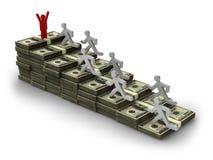 Dollari di uomo delle banconote Immagine Stock Libera da Diritti