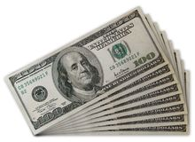 Dollari di ventilatore Immagini Stock