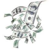 Dollari di volo Immagini Stock