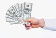 Dollari a disposizione Fotografie Stock