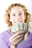 Dollari a disposizione Fotografia Stock Libera da Diritti