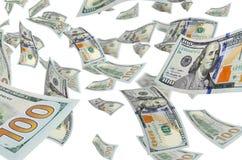 Dollari durante il volo Fotografia Stock