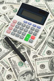 Dollari e calcolatore Immagine Stock Libera da Diritti