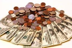 Dollari e centesimi Immagini Stock Libere da Diritti