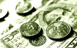 Dollari e centesimi Immagini Stock