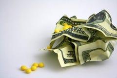 Dollari e grugs sgualciti Fotografia Stock
