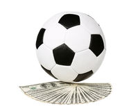 Dollari e palla Fotografie Stock Libere da Diritti