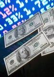 Dollari e prezzo di mercato Immagine Stock